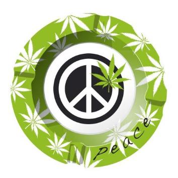 """Ashtray """"Peace"""""""