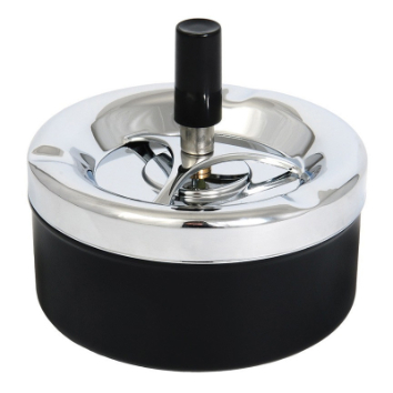 Metal rotary ashtray